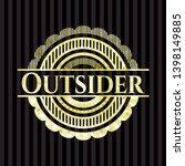 outsider gold emblem or badge.... | Shutterstock .eps vector #1398149885