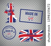 made in the uk rubber stamps... | Shutterstock .eps vector #1398155672
