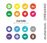 16 culture vector icons set... | Shutterstock .eps vector #1398164342