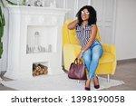 beautiful african american... | Shutterstock . vector #1398190058