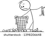 vector cartoon stick figure... | Shutterstock .eps vector #1398206648
