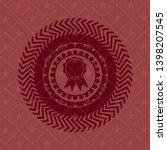 ribbon icon inside vintage red... | Shutterstock .eps vector #1398207545