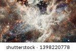 nebula night starry sky in... | Shutterstock . vector #1398220778