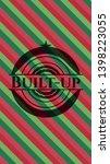 built up christmas emblem.... | Shutterstock .eps vector #1398223055