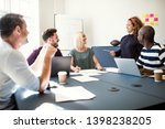 diverse group of smiling young... | Shutterstock . vector #1398238205