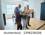 diverse team of designers... | Shutterstock . vector #1398238208