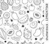 fruit hand drawn seamless...   Shutterstock .eps vector #1398247568