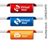 vector labels for virtual tour | Shutterstock .eps vector #139825495