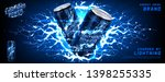 energy drink ads banner. vector ... | Shutterstock .eps vector #1398255335