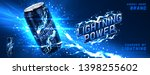 energy drink ads background.... | Shutterstock .eps vector #1398255602
