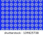 seamless blue batik pattern | Shutterstock .eps vector #139825738
