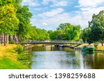 canal in haarlem viewed during... | Shutterstock . vector #1398259688