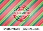 gold membership christmas badge.... | Shutterstock .eps vector #1398262838