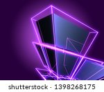 3d abstract cubes background... | Shutterstock . vector #1398268175