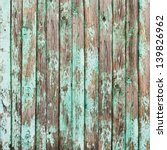 Old Shabby Wooden Planks With...