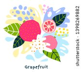 fresh grapefruit tropical... | Shutterstock .eps vector #1398269882