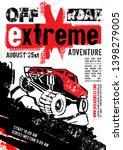 motorsport event poster.... | Shutterstock .eps vector #1398279005