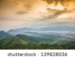 mountains under mist in the... | Shutterstock . vector #139828036