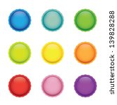 set of colorful blank round... | Shutterstock .eps vector #139828288