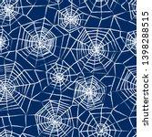 spiderweb seamless pattern....   Shutterstock .eps vector #1398288515