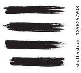 brush stroke set isolated on...   Shutterstock .eps vector #1398297908