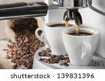 Coffee Machine Makes Two Coffe...