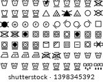 laundry care symbol icons set... | Shutterstock .eps vector #1398345392