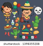 a vector of mexican culture and ... | Shutterstock .eps vector #1398355208