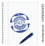 jolly drawn with pen strokes....   Shutterstock .eps vector #1398363692