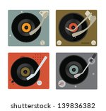 Four Colourful Vector Record...