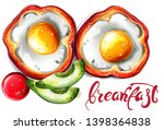eggs breakfast vector... | Shutterstock .eps vector #1398364838