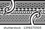 tribal pattern tattoo ... | Shutterstock .eps vector #1398370505