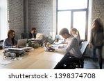 multi ethnic office workers... | Shutterstock . vector #1398374708