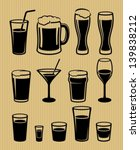 alcohol,bar,beer,beverage,black,classic,cocktail,collection,design,drink,froth,glass,graphic,icon,irish