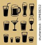 drinks icons set | Shutterstock .eps vector #139838212