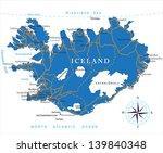iceland map | Shutterstock .eps vector #139840348