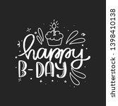 happy birthday lettering card... | Shutterstock .eps vector #1398410138