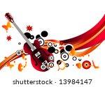 stylish music background | Shutterstock .eps vector #13984147