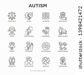 autism symptoms and adaptive... | Shutterstock .eps vector #1398421472