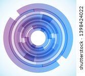 geometric frame from circles ... | Shutterstock .eps vector #1398424022