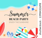 summer sale  summer beach... | Shutterstock .eps vector #1398432698