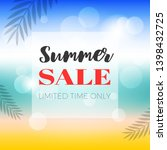 summer sale  summer beach... | Shutterstock .eps vector #1398432725