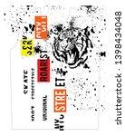 stylish trendy slogan tee t... | Shutterstock .eps vector #1398434048
