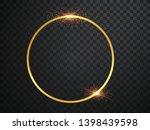abstract magical glowing golden ... | Shutterstock .eps vector #1398439598
