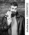 guy mafia dealer with cash...   Shutterstock . vector #1398450722