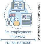 pre employment interview... | Shutterstock .eps vector #1398474008