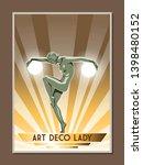 art deco style statue artistic... | Shutterstock .eps vector #1398480152