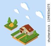 vector isometric rural house.... | Shutterstock .eps vector #1398506075