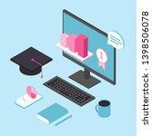 online education for business... | Shutterstock .eps vector #1398506078