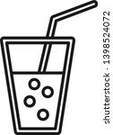 cold drink icon in line style....